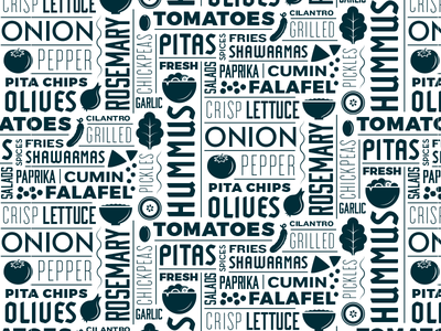 Moody's Pita & Hummus Type Tile typography branding identity logo restaurant food lebanese greek olives hummus pita