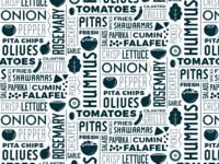 Moody's Pita & Hummus Type Tile