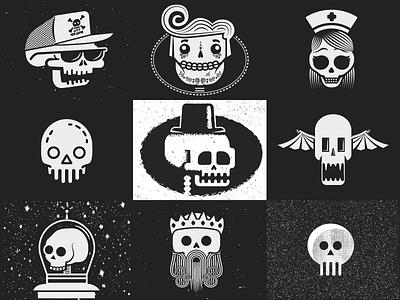 Skulls skulls halloween illustration boo
