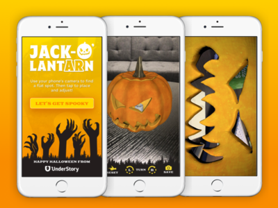 Jack-O'LantARn App halloween ui ar jackolantern app ios