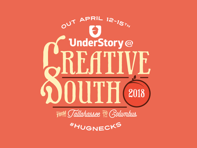 Creative South 2018 creative south hugnecks peach cs18