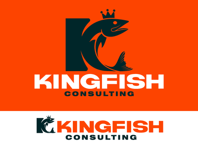 Kingfish Consulting k crown typography type fish kingfish