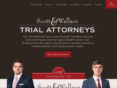 Scott & Wallace Website ui website video firm legal law