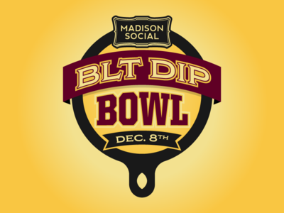 Madison Social BLT Dip Bowl logo skillet blt football bowl dip