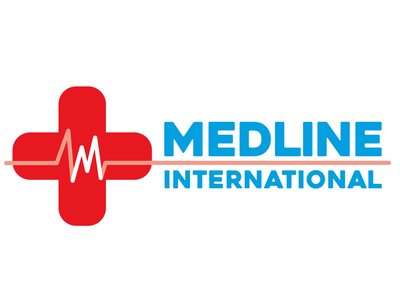 Medline International Logo medical vector logo branding logo illustration logo design health logo medical logo logo