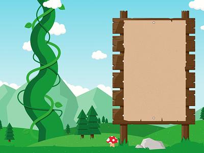 Landscape Illustration   Double Page Spread design illustration