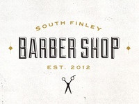 South Finley Barber Shop logo treatment
