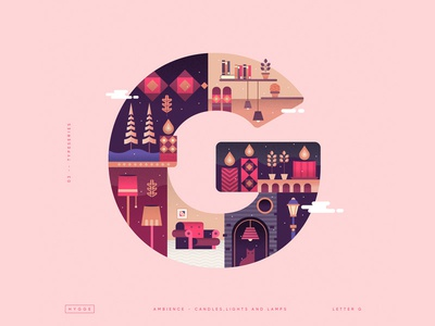 'Hygge' illustrated Type