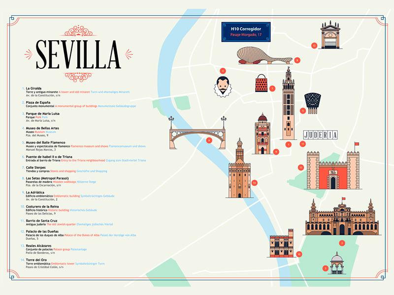 H10 map, Sevilla by Doctor Zamenhof | Dribbble | Dribbble