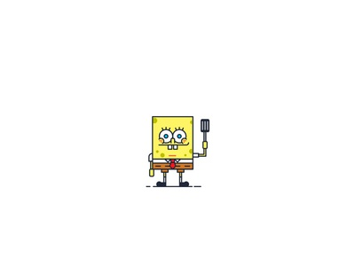 Bikini Bottom Characters characters character vector illustration ideas graphic digital-art design creative