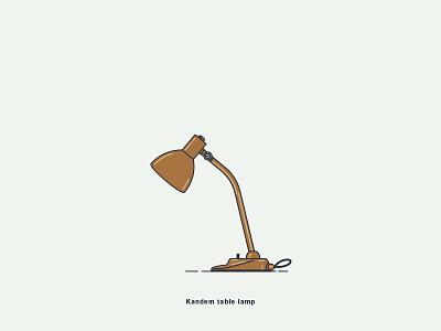 Brandt & Bredendieck, Kandem Table Lamp art-direction creative design digital-art graphic illustration vector bredendieck brandt lamp 1928 bauhaus