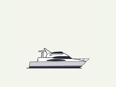 Puerto Banús / Marbella boat port spain vector illustration