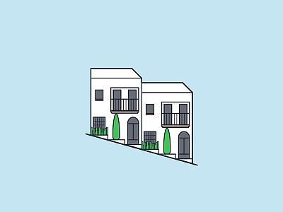 Casares / White Village for H10 Hotels Magazine village spain vector illustration
