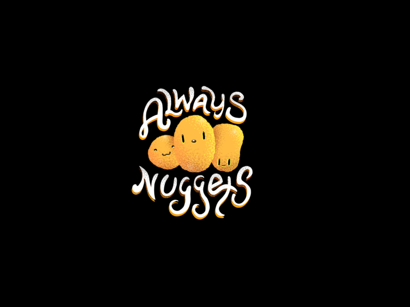 Always Nuggets chicken nuggets chicken characters foodie food cute art cute nuggets hand drawn procreate