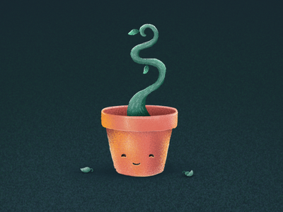 Growth potted plant plant grow growth illustration procreate