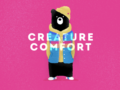 Creature Comfort critters critter animals illustrated animals bears bear comfort creature design creatures creature animal illustration procreate