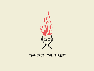 Where's the Fire hand drawn illustration procreate fireart fire