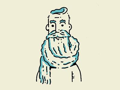 Beardo drawing hand drawn illustration procreate hipster beards bearded beard