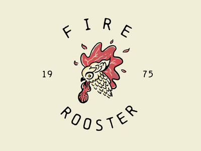 Fire Rooster animal drawing phoenix fire birds roosters bird rooster hand drawn illustration procreate