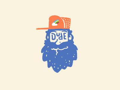 Dude! bearded man bearded beard trucker hat dudes dude drawing hand drawn illustration procreate