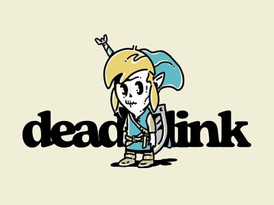 Dead Link switch nintendo link legend of zelda zelda video game hand drawn illustration procreate