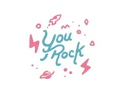 You Rock! handwritten type type art lettering rock motivate motivational drawing hand drawn illustration procreate