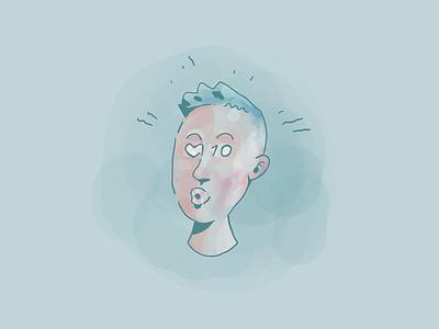 Social Head instagram face head social drawing hand drawn illustration procreate