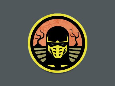 Mortal Kombat Scorpion Badge