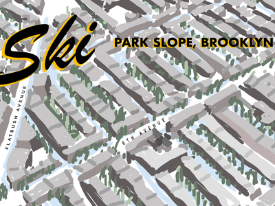 Fun for the Snow Day illustration drawing nyc brooklyn nyc brooklyn park slope snow