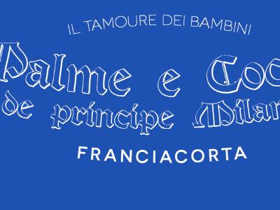 Wine label concept blue