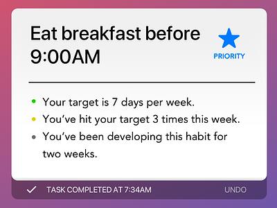 data feed task item iOS ios