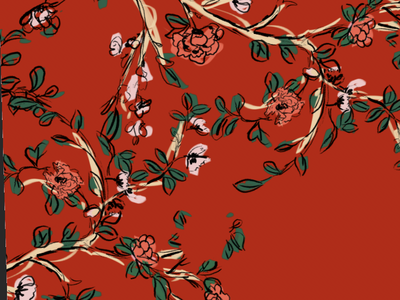 Chinoiserie illustration chinoiserie