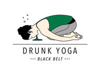 Drunk Yoga Black Belt