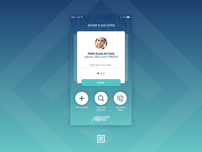 Bank Sign In design sketch gradient uiux ui button bank card mobile blue login singin bank
