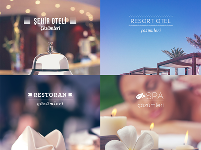 Typographic banners banner typography spa resort hotel restaurant hotels