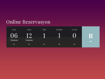 Reservation Date Picker reservation date picker hotel hospitality