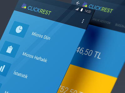 ClickRest Android App business intelligence android material design mobile app