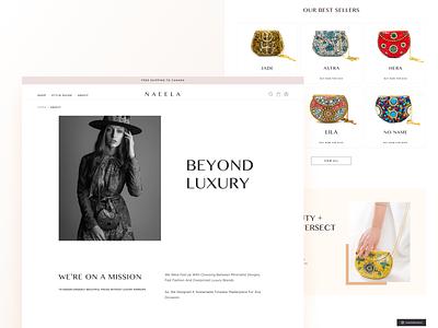 Naeela Designs Website Redesign concept logo checkout landing dailyui website page design uidesign ui