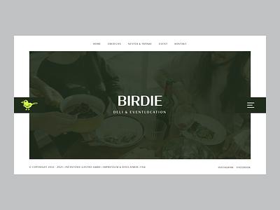 Birdie-Deli Website place cocktail uidesign green relaxing munich parties minimal clean website bar food ui