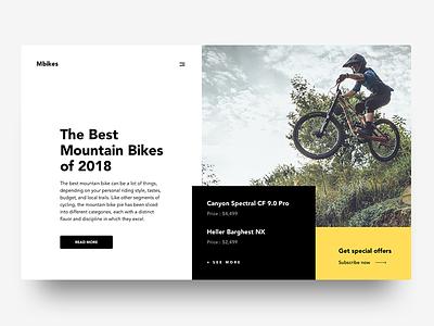 Mountain Bikes ux ui studio design collective bikes mountain uidesign