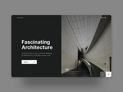 Fascinating Architecture minimal clean website dailyui uidesign ui