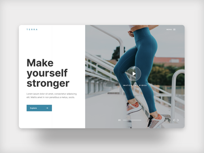 Make Yourself Stronger concept blue clean dailyui uidesign design ui