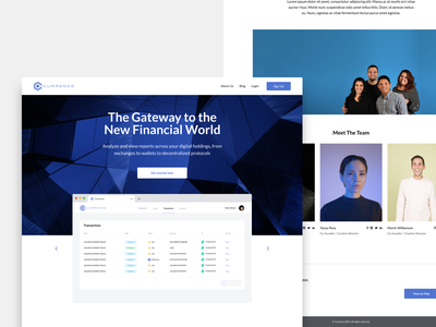 Currence.io web landing blue clean website dailyui uidesign page design ui