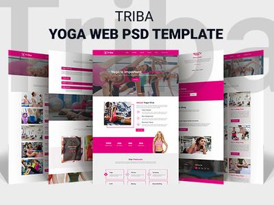 Triba- Yoga Web PSD Template