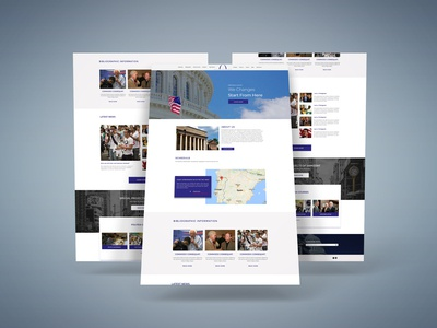 Political PSD Template