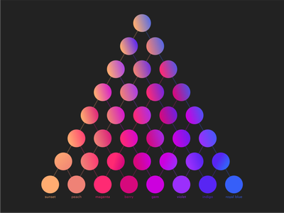 color pyramid colorful logo swatches swatch color scheme gradient set gradient color gradients colorful art colorswatch colorscheme colors colorful color palette pink blue purple