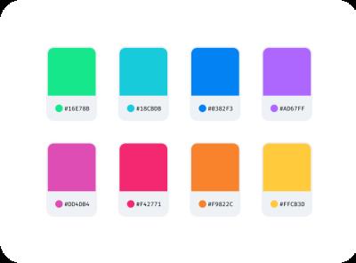 Bright Palette branding ux ui color palette color scheme colorful colors color palette