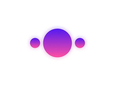 Charming gradient icon logo