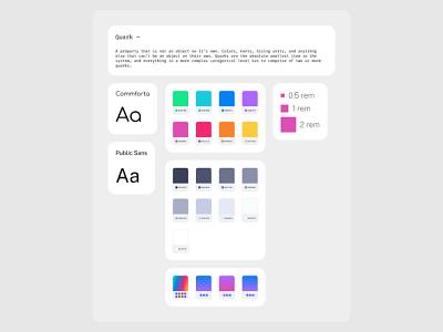 Hypernova Design System ––Quarks fonts color pallete ux uiux design system ui