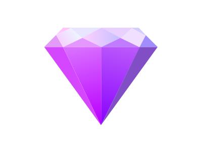 Amethyst Design Logo amethyst purple gemstone jewel gem design